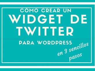 crear un widget de Twitter
